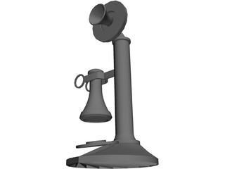 Candlestick Telephone 3D Model