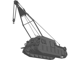 Crane Engineering Vehicle 3D Model
