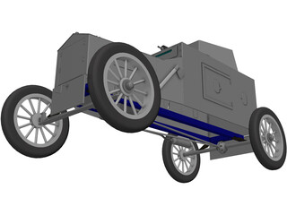 Ford Armored Car 3D Model