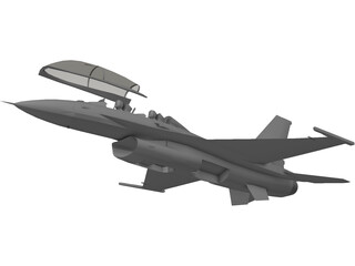 F-16D Block 52 Fighting Falcon 3D Model