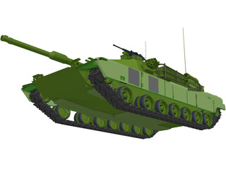American M1A1 Abrams Main Battle Tank 3D Model