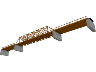 TPG and TRUSS Bridge 3D Model