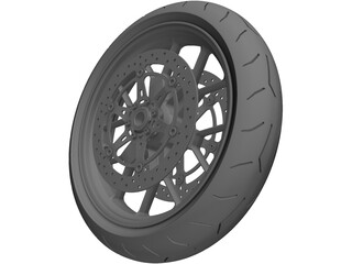 Motorcycle Front Wheel 3D Model