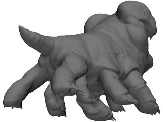 Woola Monster Creature 3D Model