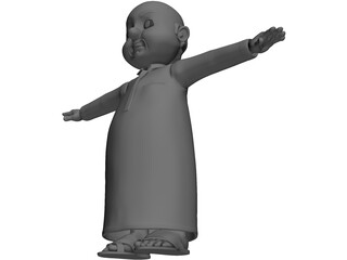Arab Male Cartoon Character 3D Model