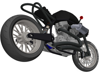 Custom Motorcycle 3D Model