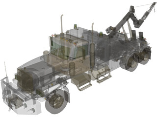Wreck Recovery Truck 3D Model