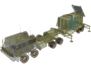 Patriot Radar 3D Model