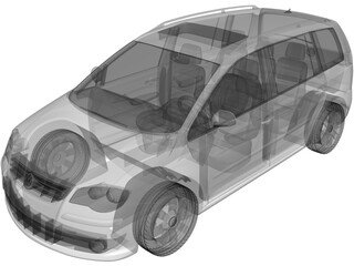 Volkswagen Touran (2007) 3D Model