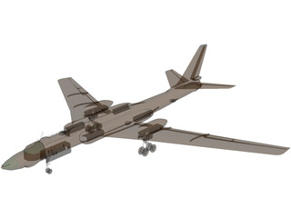 Tupolev Tu-16 Badger 3D Model