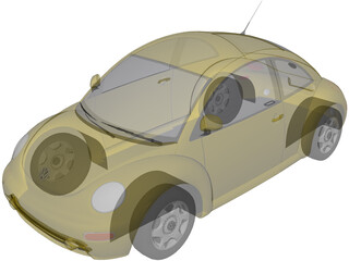 Volkswagen Beetle (1998) 3D Model