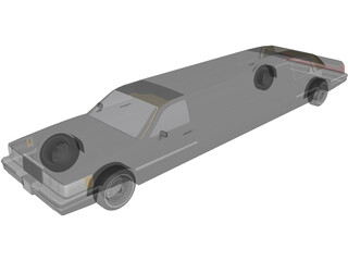 Lincoln Limousine 3D Model