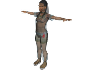 Female Multiple Outfits 3D Model