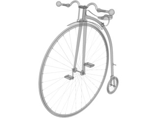 Bicycle Old 3D Model