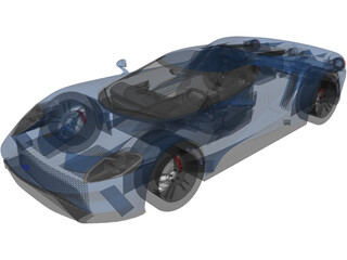 Ford GT (2017) 3D Model