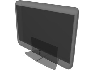 Sony Black Screen Plasma 3D Model