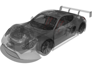 Porsche Cayman Concept SuperSport 3D Model
