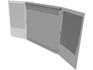 Openable Whiteboard 3D Model
