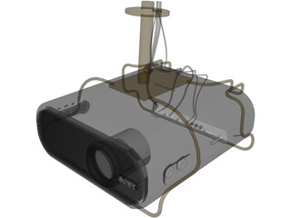 Sony Video Projector 3D Model