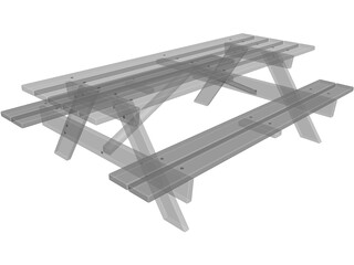 Picnic Table 3D Model