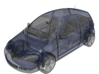 Volkswagen Fox (2005) 3D Model