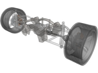 Rear Suspension 3D Model