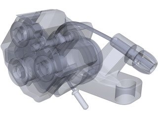 Disc Brake Caliper 3D Model