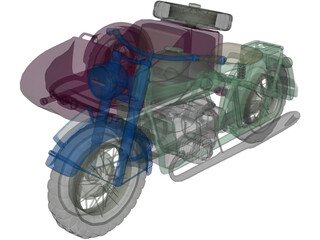 BMW R75 Motorcycle 3D Model