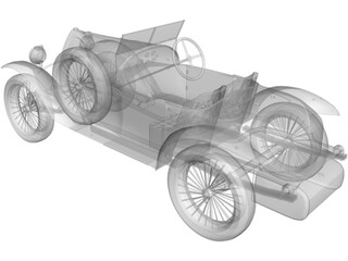 Bugatti Type 18 (1914) 3D Model