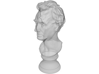 Abraham Lincoln Louvre Bust 3D Model