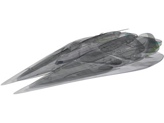 Kamerian Battle Cruiser 3D Model