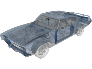 Pontiac GTO Judge Hard Top 3D Model