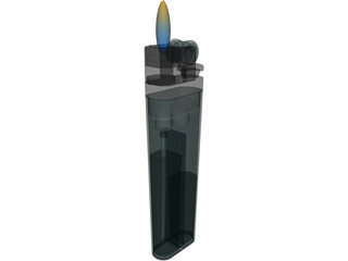 Plastic Lighter 3D Model