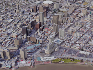 New Orleans City Downtown, USA (2019) 3D Model