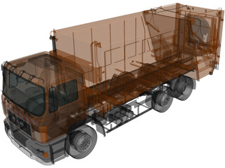 Man F-2000 Garbage Truck (1990) 3D Model