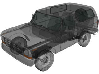 Ford Bronco Wagon (1978) 3D Model