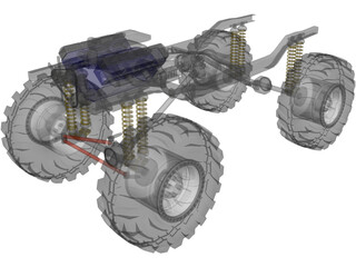 Chassis 4x4 3D Model