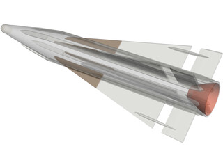 AIM-26B Falcon (Rb27) 3D Model