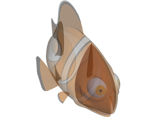 Nemo Fish Cartoon 3D Model
