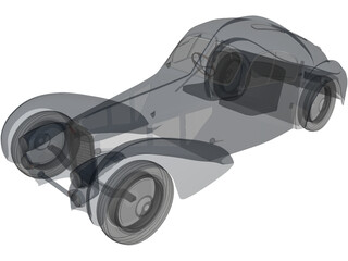 Bugatti Atlantic Coupe 3D Model