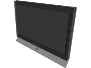Samsung LCD TV 3D Model