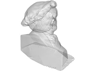 Richard Wagner Bust 3D Model