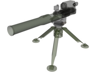 TOW Missile Launcher 3D Model