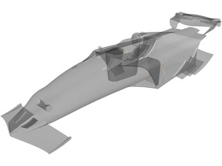 Race Car Body 3D Model
