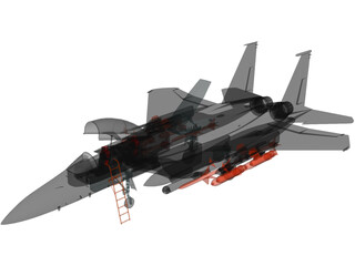 F-15E Strike Eagle 3D Model