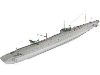 Submarine First Class 3D Model