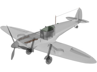 Supermarine Spitfire MK IA 3D Model