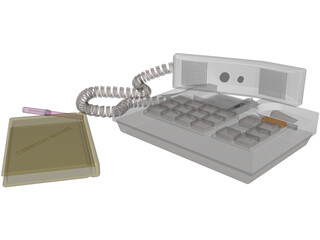 Telephone Handset 3D Model