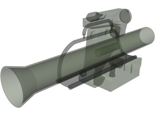 MILAN Anti-Tank Missile 3D Model