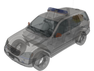 Mercedes-Benz ML-class Police 3D Model